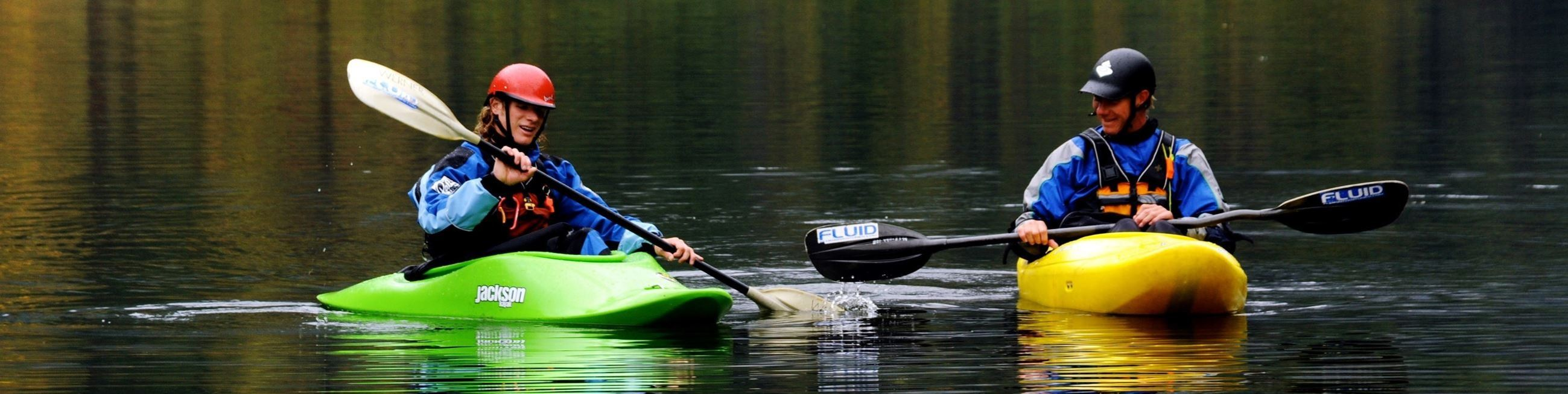 Kayaker on water