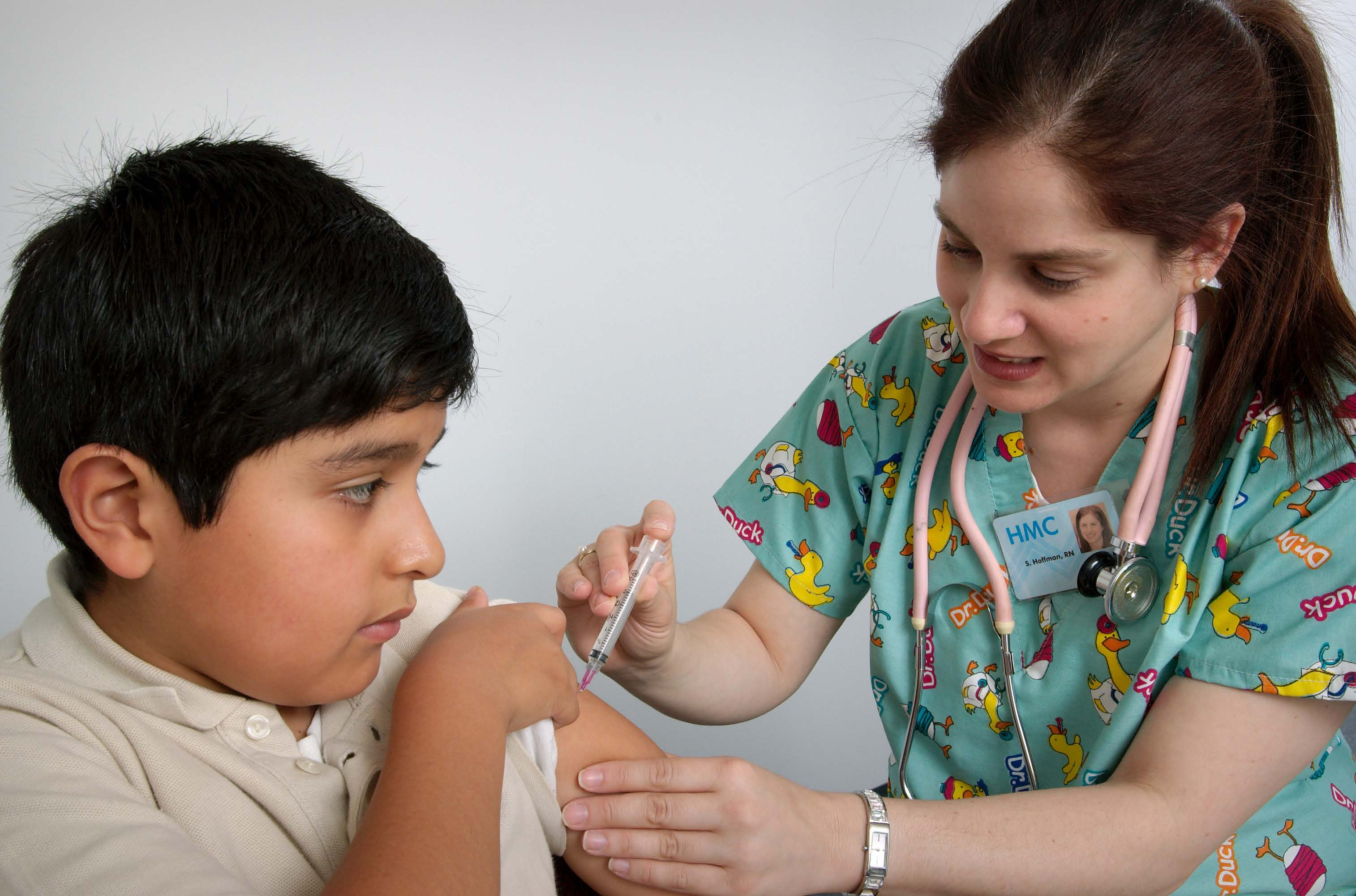 boy getting a shot